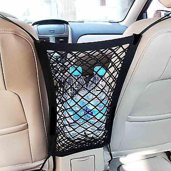 Auton verkkotasku käsilaukkupidike & istuimen raon säilytysverkko