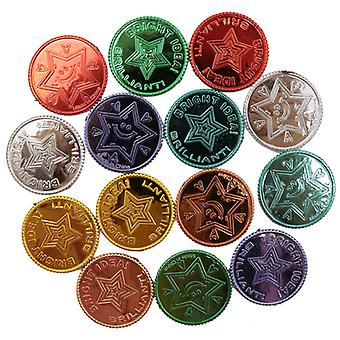 Lucky Pirate Gold Coins Plastic Set, Gold Treasure Coins