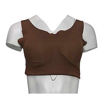 Rhonda Shear Skintones Body Bra with Removable Pads Brown 738218
