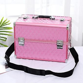 Kannettava kosmeettinen matkalaukku meikkitaiteilijan kotitalouden monikerroksinen kynsitatuointi