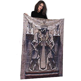 EGYPTIAN GODS Fleece Deken / Plaid 147cm x 147cm van David Penfound
