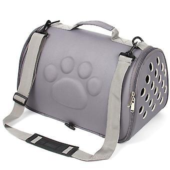 L 52 * 32 * 32cm رمادي المحمولة حقيبة سفر الحيوانات الأليفة، القط والكلب تنفس حقيبة يد az22129