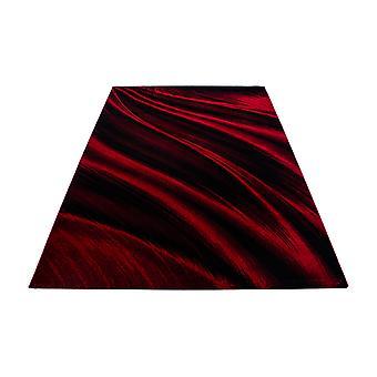 Shortfloral Diseño Rug sombra Patrón Sala de estar Alfombra Rojo Negro Melted