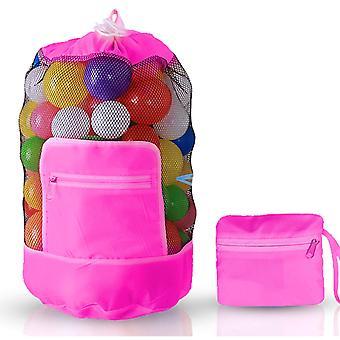 Doodle Toy Play Mat Drawstring Organizer Foldable Large Kids Bag, Pink