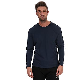 Men's Russell Athletic LS Crew Neck T-Shirt in Blue