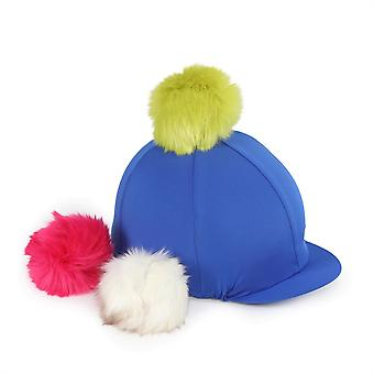 Shires Unisex Fun Switch It Hat Stretch Faux Fur Utbytbar Pom Pom Cap