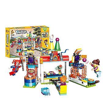 692006# Eğlence parkı dönme dolap jumper serisi monte edilmiş yapı taşları çocuk oyuncakları az1308