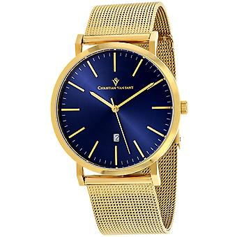 Christian Van Sant Men-apos;s Paradigm Blue Dial Watch - CV4324