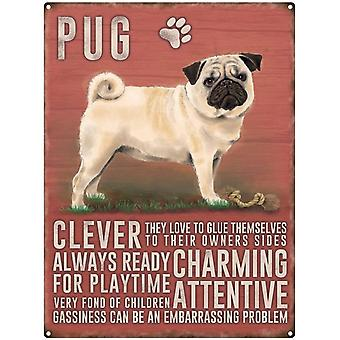 Pug Wall Plaque by The Original Metal Sign Company