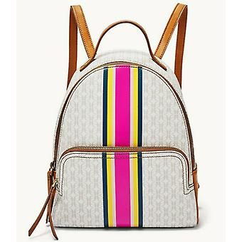 Fossil Felicity Backpack Signature White Tan Pink Stripe SHB2436678