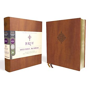 NRSV Holy Bible XL Edition Leathersoft Brown Comfort Print by Zondervan
