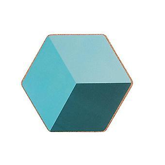 2kpl luova pehmeä puinen placemat geometrinen lasinalusten eristys kuuma kulho matto levy karkkia