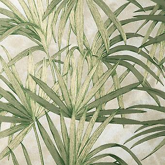 Fin dekor Vymura Milano Palm Leaf Grön Tapet M95624
