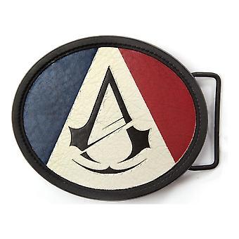 Unity Crest Logo Driekleurige Oval Belt Buckle