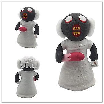 Roblox horror granny pluche speelgoed voor een kinderverjaardag, 25cm wit