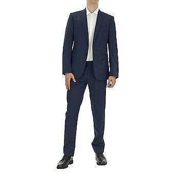 Emporio Armani Homme Costume Coupe régulière Longueur de la cheville Manche complète Marine