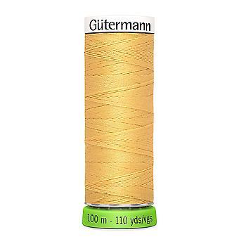Gutermann 100% genanvendt polyester sy-alle tråd 100m hånd og maskine - 415