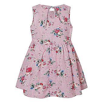Girls Summer Dress Cute Flower Print Sleeveless Soft Fashion Princess Clothes