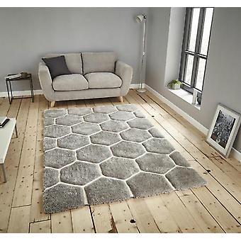 Noble House 30782 Grey White  Rectangle Rugs Funky Rugs