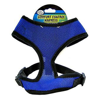 """Four Paws Comfort Control Harness - Blue - Large - For Dogs 11-18 lbs (19""""-23"""" Chest & 13""""-15"""" Neck)"""