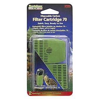 Reptology Internal Filter 70 Disposable Carbon - 2 count
