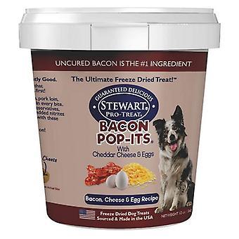 Stewart Bacon Pop-Its Bacon, Cheese, Egg Recipe Freeze Dried Dog Treat - 12 oz