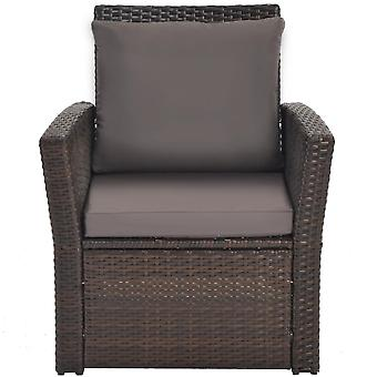 Outdoor Patio Rattan 5 Pieces Conversation Set With Fitting Furniture Cover