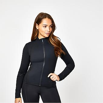 USA Pro Womens X Courtney Black Fitted Sports Jacket Outerwear Training Fitness