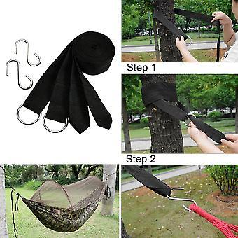 Koraman 150kg Bearing Nylon Black Camping Hiking Hammock Hanging Belt Strap