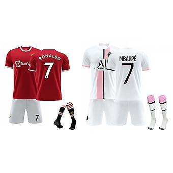 Cristiano Ronaldo Manchester United & Mbappe Jersey (children's Clothing Set