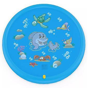 Kinder PVC Outdoor Wasser Spielmatte Spielzeug Aufblasbare Spritzer Sprinkler für Kinder Waten Pool Hof Strand Sommer 170cm