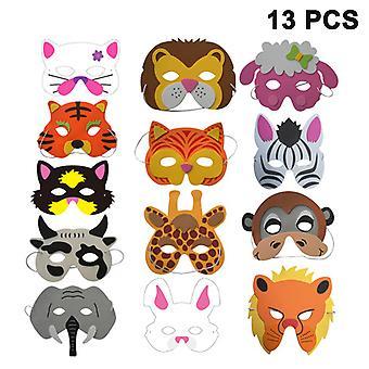 Masques d'animaux Fête de costume d'animal Favoris avec 13 visages d'animaux différents