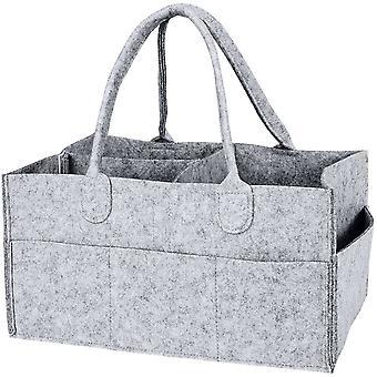 Foldable Baby Diaper Caddy Organiser Portable Nursery Storage Basket