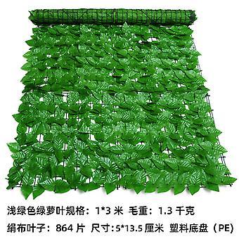ورقة خضراء محاكاة السياج الاصطناعي سياج النبات الأخضر