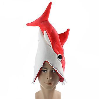 Strange And Funny Creative Aquarium Shark Piranha Hat Plush Toy Doll Birthday Gift