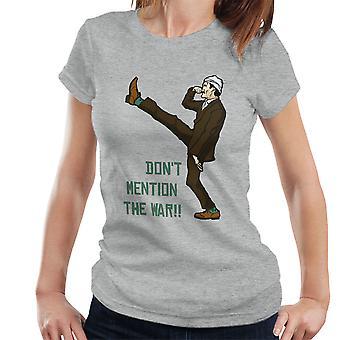 Fawlty Towers Dont Mention Krieg Damen T-Shirt