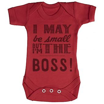 Spoilt Rotten Small But I'm The Boss Short Sleeve Baby Bodysuit