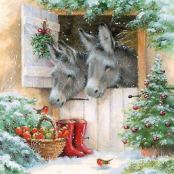 Ambiente Santa ' s donkeys napkins
