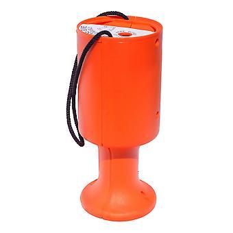 Round Charity Money Collection Box - Orange