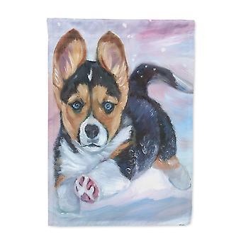 Carolines Treasures  7371GF Puppy Chase Corgi Flag Garden Size