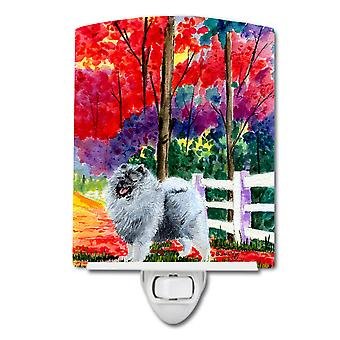 Carolines Treasures  SS8432CNL Keeshond Ceramic Night Light