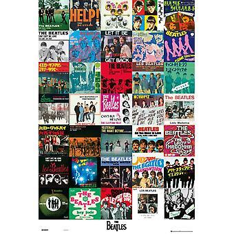 Beatles - singlar affisch affisch Skriv