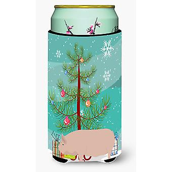 Welsh Pig Christmas Tall Boy Beverage Insulator Hugger