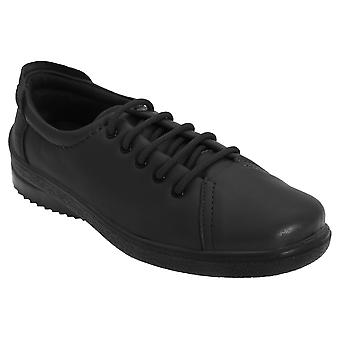 Mod Comfys Womens/Ladies 5 Eye Lace To Toe Softie Leather Leisure Shoes