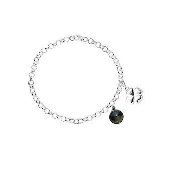 Black Tahiti Pearl Women's Bracelet and Silver Star 925/1000 7102