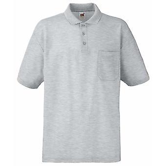 Fruit of the Loom Mens 65/35 pocket Polo Shirt