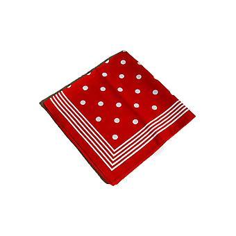 Accessoires rood met witte stippen sjaal zakdoek bandana