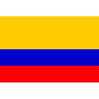Kolumbian lippu 5ft x 3ft kanssa silmukoita roikkuu