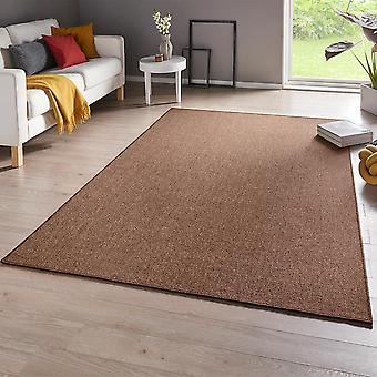 Fine loop carpet casual Brown Pearly uni