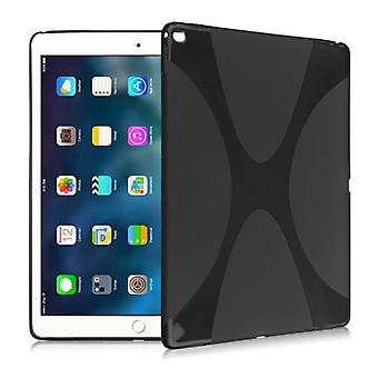 Protective cover silicone X-line series black case cover for new Apple iPad 9.7 2017 bag